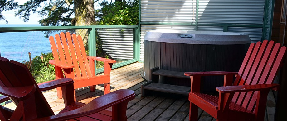 cabin 9 and 10 log cabin duplex deck at point no point resort